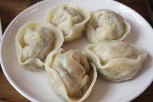 Mandu dumplings on a plate