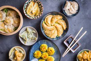 several dumpling dishes