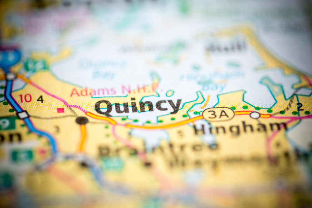 Map of Quincy MA